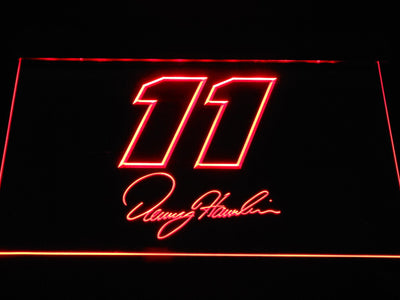 Denny Hamlin Signature 11 LED Neon Sign - Red - SafeSpecial