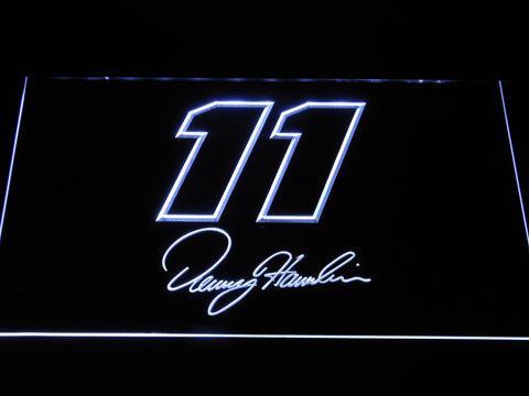 Denny Hamlin Signature 11 LED Neon Sign - White - SafeSpecial