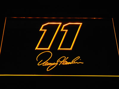 Denny Hamlin Signature 11 LED Neon Sign - Yellow - SafeSpecial