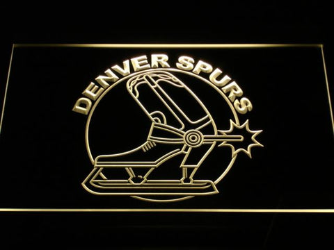 Denver Spurs LED Neon Sign - Legacy Edition - Yellow - SafeSpecial