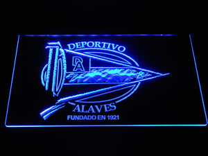 Deportivo Alaves LED Neon Sign - Blue - SafeSpecial