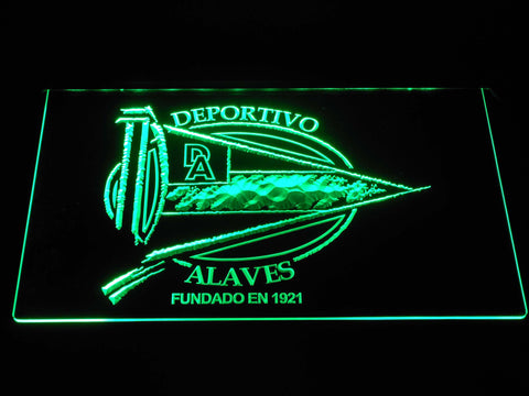 Image of Deportivo Alaves LED Neon Sign - Green - SafeSpecial