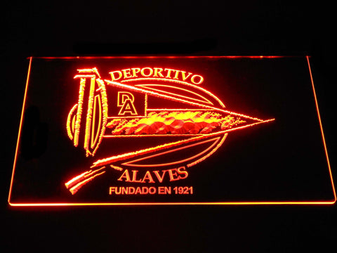 Image of Deportivo Alaves LED Neon Sign - Orange - SafeSpecial