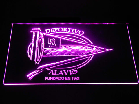 Image of Deportivo Alaves LED Neon Sign - Purple - SafeSpecial
