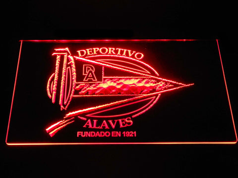 Image of Deportivo Alaves LED Neon Sign - Red - SafeSpecial