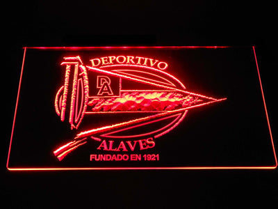 Deportivo Alaves LED Neon Sign - Red - SafeSpecial