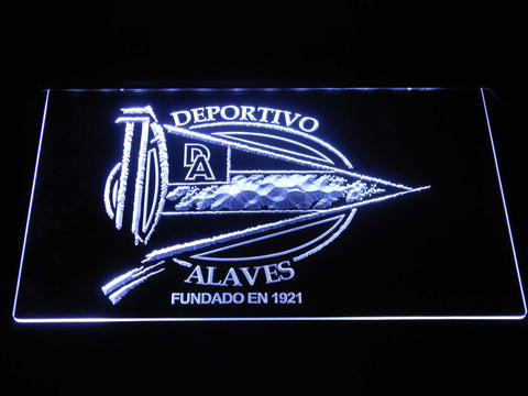 Image of Deportivo Alaves LED Neon Sign - White - SafeSpecial