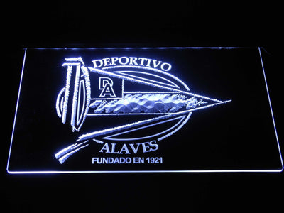 Deportivo Alaves LED Neon Sign - White - SafeSpecial
