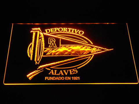 Image of Deportivo Alaves LED Neon Sign - Yellow - SafeSpecial
