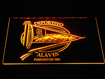 Deportivo Alaves LED Neon Sign - Yellow - SafeSpecial