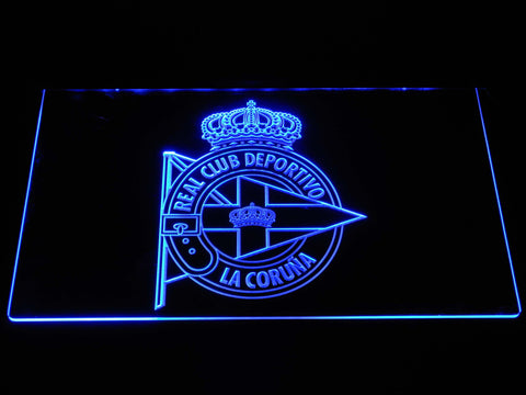 Deportivo de La Coruna LED Neon Sign - Blue - SafeSpecial