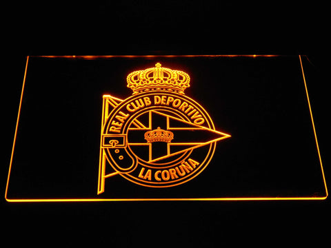 Deportivo de La Coruna LED Neon Sign - Yellow - SafeSpecial