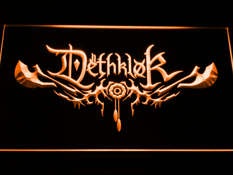 Image of Dethklok LED Neon Sign - Orange - SafeSpecial