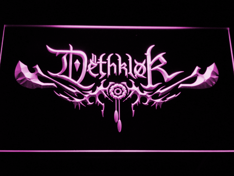 Image of Dethklok LED Neon Sign - Purple - SafeSpecial