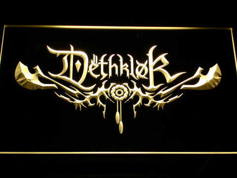 Image of Dethklok LED Neon Sign - Yellow - SafeSpecial