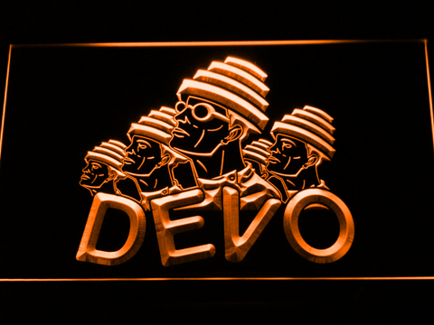 Image of Devo LED Neon Sign - Orange - SafeSpecial