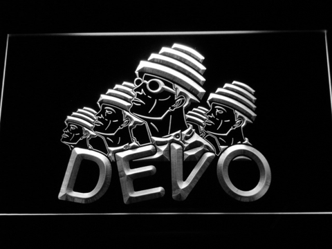 Devo LED Neon Sign - White - SafeSpecial