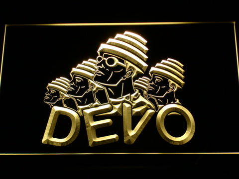 Image of Devo LED Neon Sign - Yellow - SafeSpecial