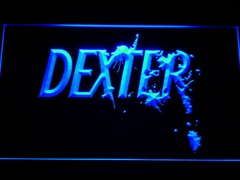 Image of Dexter LED Neon Sign - Blue - SafeSpecial