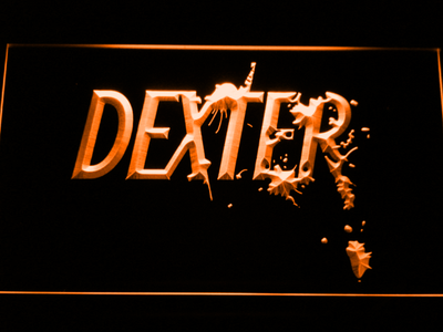 Dexter LED Neon Sign - Orange - SafeSpecial