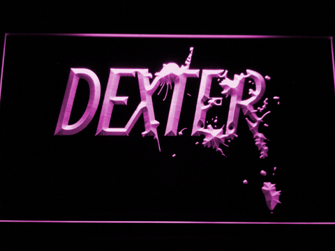 Image of Dexter LED Neon Sign - Purple - SafeSpecial