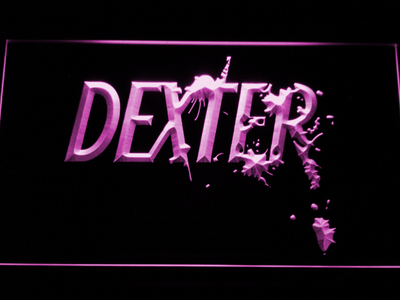 Dexter LED Neon Sign - Purple - SafeSpecial