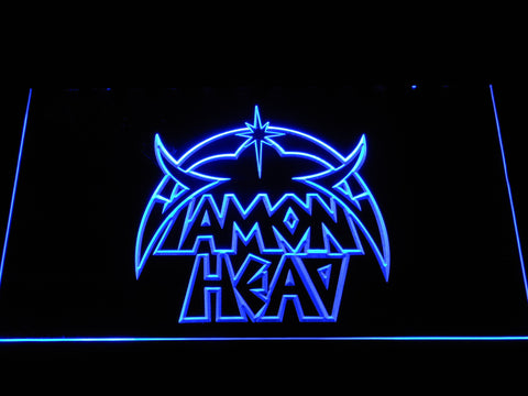 Image of Diamond Head LED Neon Sign - Blue - SafeSpecial