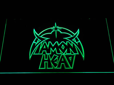 Diamond Head LED Neon Sign - Green - SafeSpecial