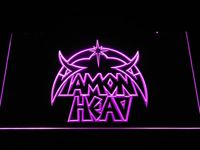 Diamond Head LED Neon Sign - Purple - SafeSpecial
