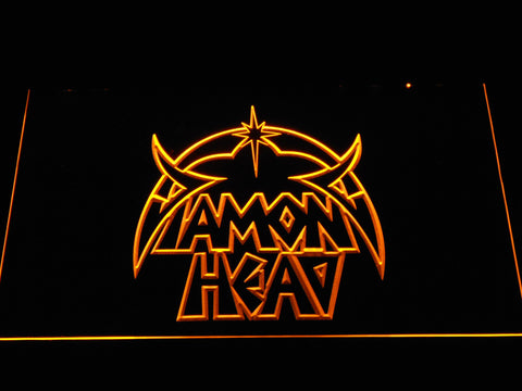 Diamond Head LED Neon Sign - Yellow - SafeSpecial
