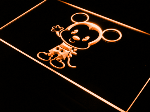 Image of Disney Babies Mickey Mouse LED Neon Sign - Orange - SafeSpecial