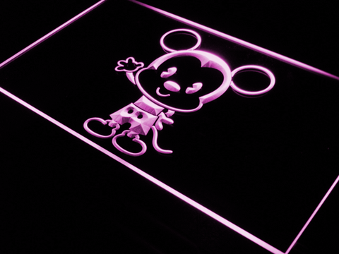 Image of Disney Babies Mickey Mouse LED Neon Sign - Purple - SafeSpecial