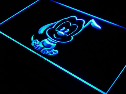Image of Disney Babies Pluto LED Neon Sign - Blue - SafeSpecial