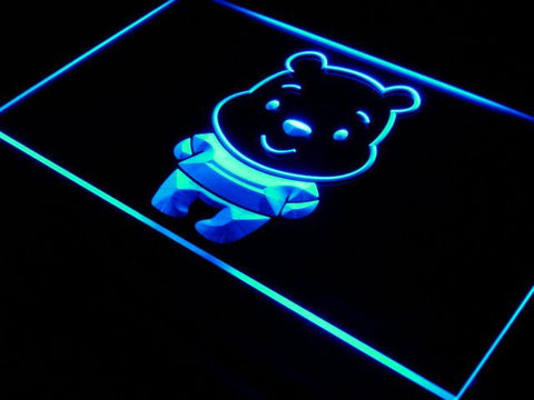 Image of Disney Babies Winnie The Pooh LED Neon Sign - Blue - SafeSpecial