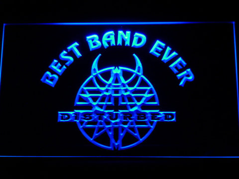 Disturbed Best Band Ever LED Neon Sign - Blue - SafeSpecial