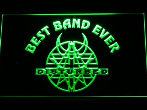 Disturbed Best Band Ever LED Neon Sign - Green - SafeSpecial