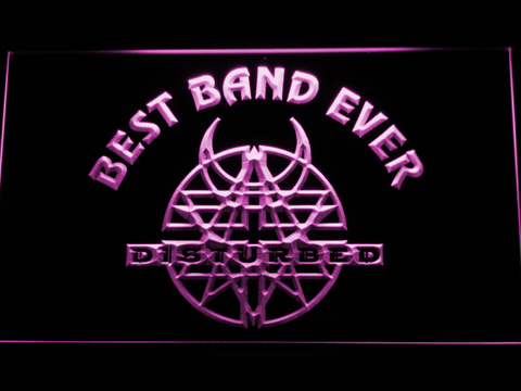 Disturbed Best Band Ever LED Neon Sign - Purple - SafeSpecial
