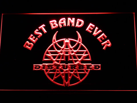Disturbed Best Band Ever LED Neon Sign - Red - SafeSpecial