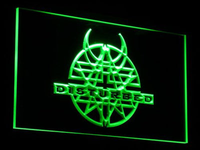 Disturbed LED Neon Sign - Green - SafeSpecial