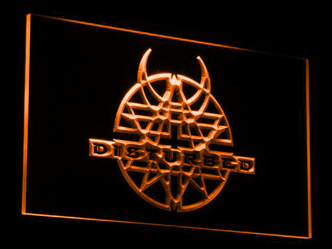 Image of Disturbed LED Neon Sign - Orange - SafeSpecial