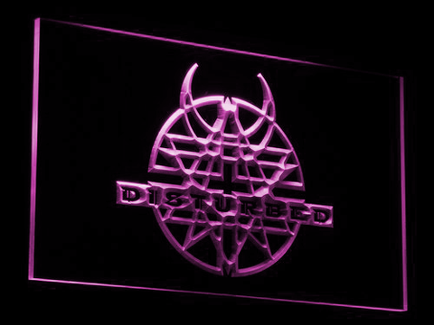 Image of Disturbed LED Neon Sign - Purple - SafeSpecial