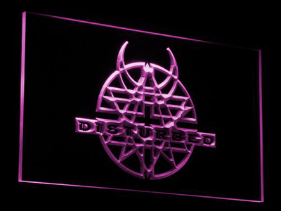 Disturbed LED Neon Sign - Purple - SafeSpecial