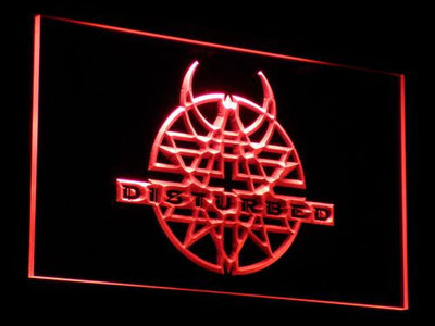 Disturbed LED Neon Sign - Red - SafeSpecial