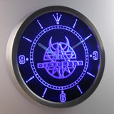 Disturbed LED Neon Wall Clock - Blue - SafeSpecial