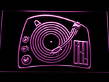 DJ Turntable LED Neon Sign - Purple - SafeSpecial