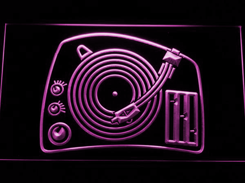 Image of DJ Turntable LED Neon Sign - Purple - SafeSpecial