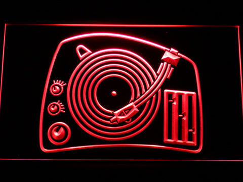 Image of DJ Turntable LED Neon Sign - Red - SafeSpecial