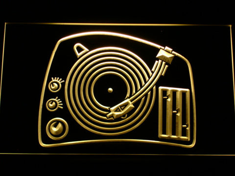 Image of DJ Turntable LED Neon Sign - Yellow - SafeSpecial