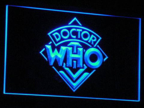 Image of Doctor Who LED Neon Sign - Blue - SafeSpecial