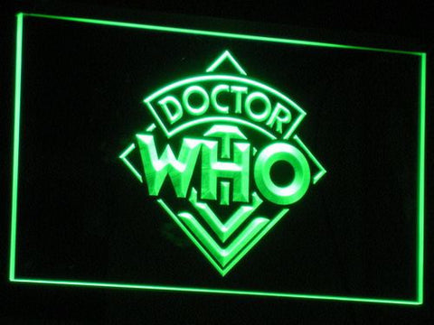 Image of Doctor Who LED Neon Sign - Green - SafeSpecial